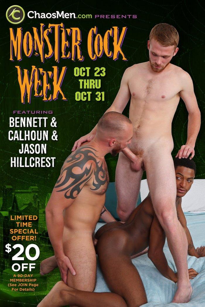 ChaosMen Monster Cock Week Gay Porn Bennett Calhoun Jason Hillcrest