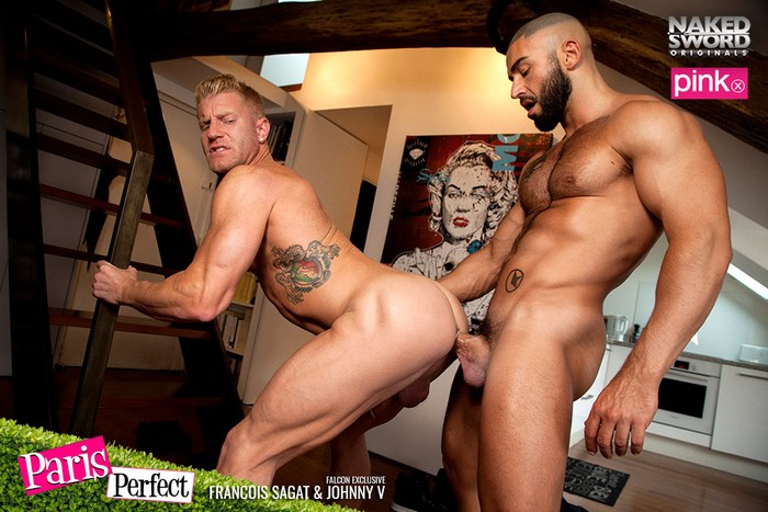 Francois Sagat Gay Porn JohnnyV Muscle Bottom