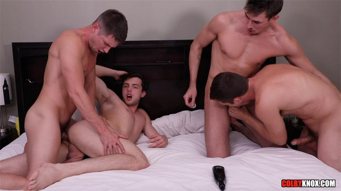 Colby Chambers Mickey Knox Christian Bay Jack Hunter 4-Way Fuck Fest