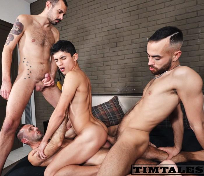Joaquin Santana Gay Porn Bareback GangBang Double Penetration Vadim Romanov Fostter Riviera Koldo Goran