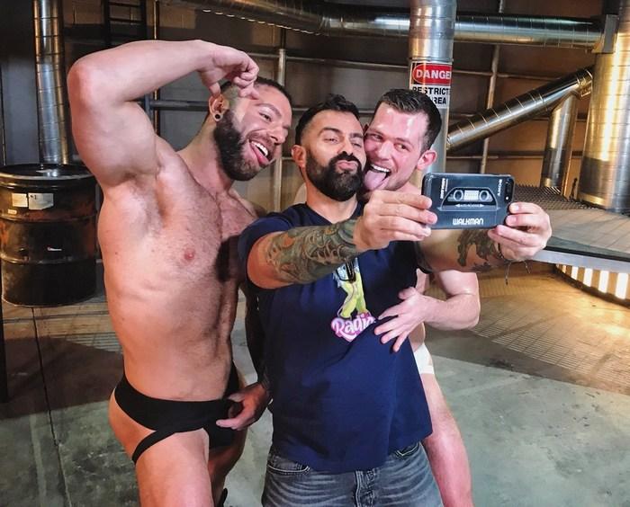 Gay Porn Behind The Scenes Kurtis Wolfe Eddy CeeTee Steve Cruz