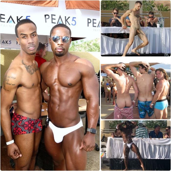 Gay pool party Porn