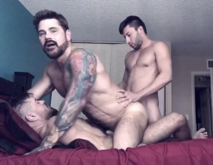 Jack Mackenroth Gay Porn DP Jack Andy Scott DeMarco Bareback Sex Tape