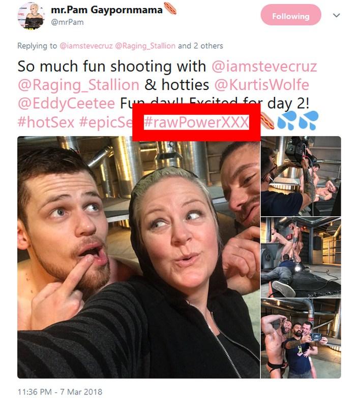RawPowerXXX Raging Stallion Gay Porn Bareback Twitter