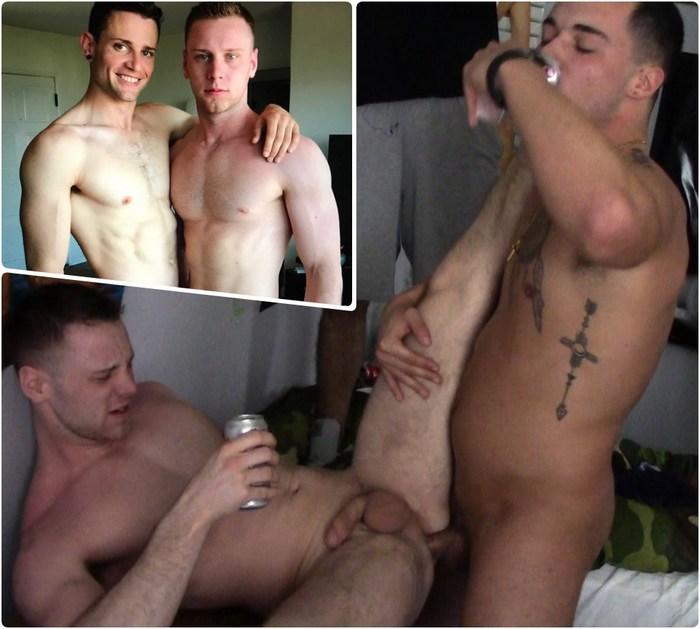 Brandon Evans Gay Porn Quin Quire FraternityX Bareback GangBang