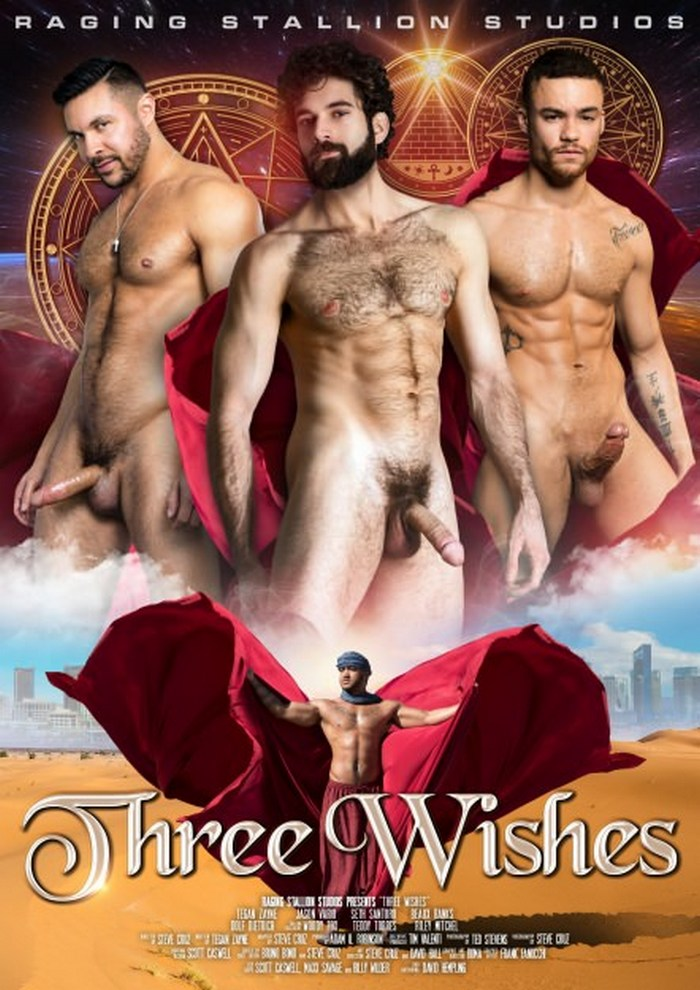 THREE WISHES Gay Porn Movie DVD Cover