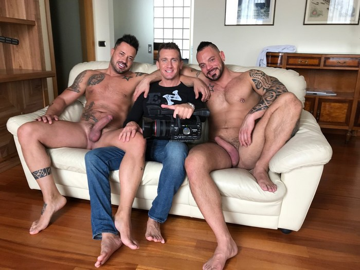 Alex Magnum Christian King Ettore Tosi Gay Porn Behind The Scenes LucasKazan