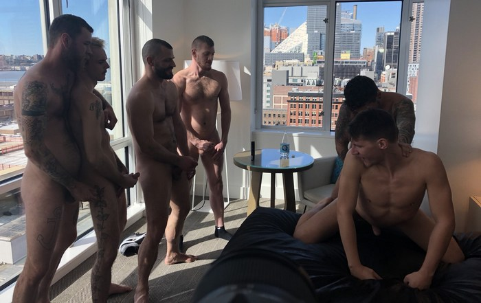 Dakota Wolfe Bareback Gang Bang BTS