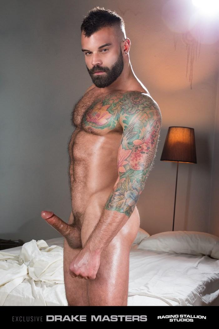 Drake Masters Gay Porn Star Masculine Hairy Stud Raging Stallion