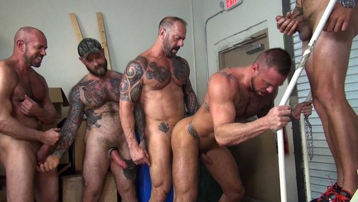Michael Roman Bareback Gang Bang Gay Porn RawFuckClub
