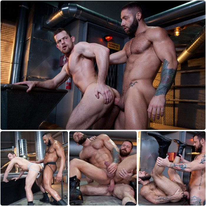 RAW POWER Gay Porn Bareback Sex Kurtis Wolfe Eddy CeeTee Sergeant Miles Teddy Bear Jay Landford
