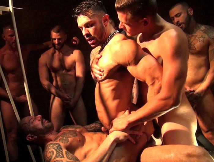 Seth Santoro Bareback GangBang Gay Porn