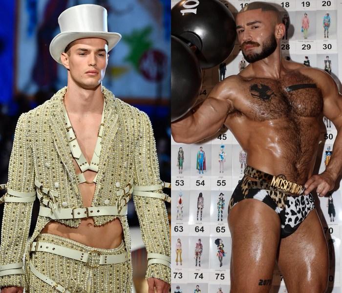 Moschino Fashion Show Circus Gay Porn Stars Hoyt Kogan Francois Sagat