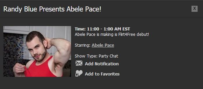 Randy Blue Live Gay Porn Star Abele Place
