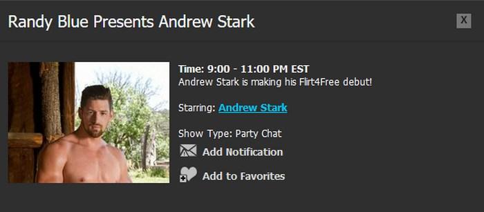 Randy Blue Live Gay Porn Star Andrew Stark