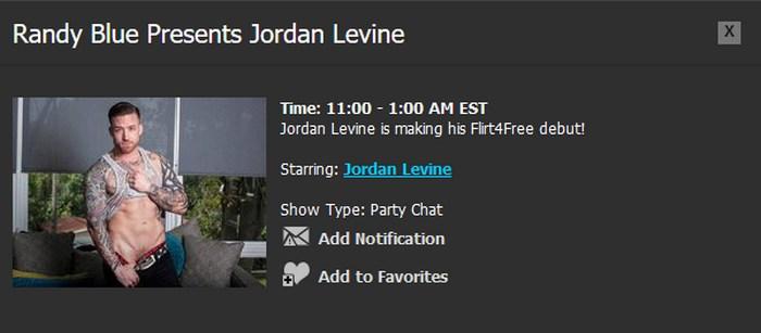 Randy Blue Live Gay Porn Star Jordan Levine