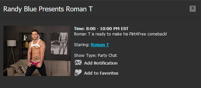 Randy Blue Live Gay Porn Star Roman Todd
