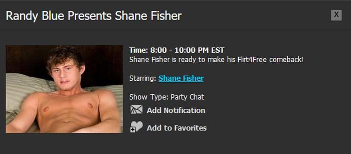 Randy Blue Live Gay Porn Star Shane Fisher