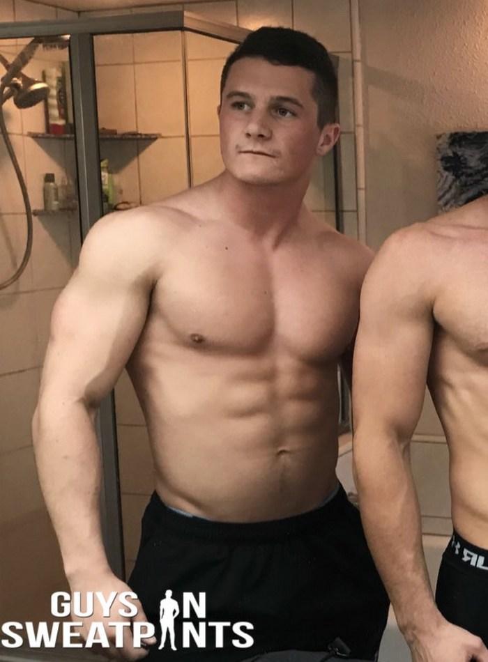 Shawn Gay Porn Star Muscle Jock Shirtless Hunk GuysInSweatpants