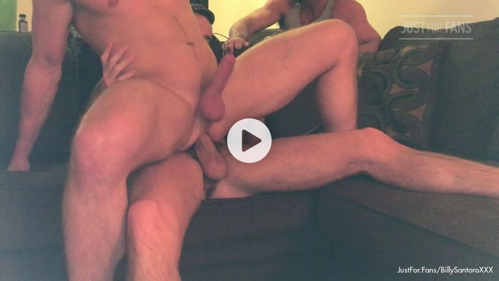 Billy Santoro Gay Porn Bareback Sex JustForFans