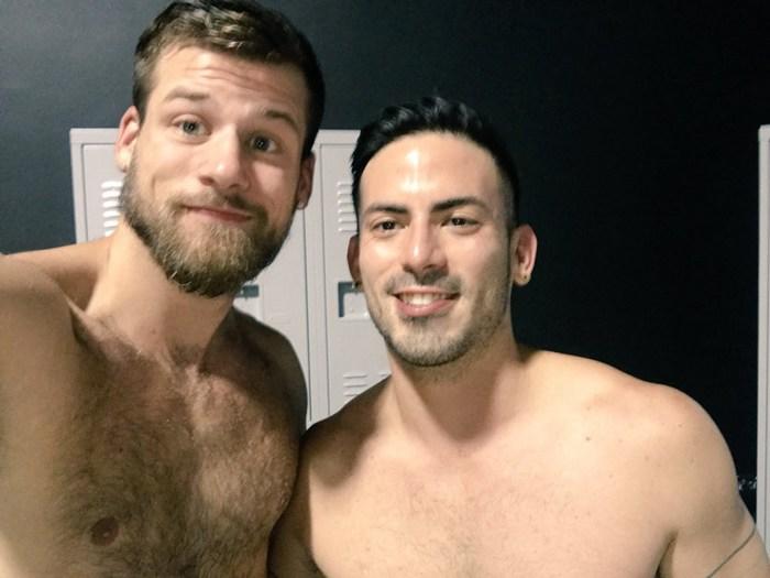 Gay Porn BTS Cesar Rossi Mars Rousseau