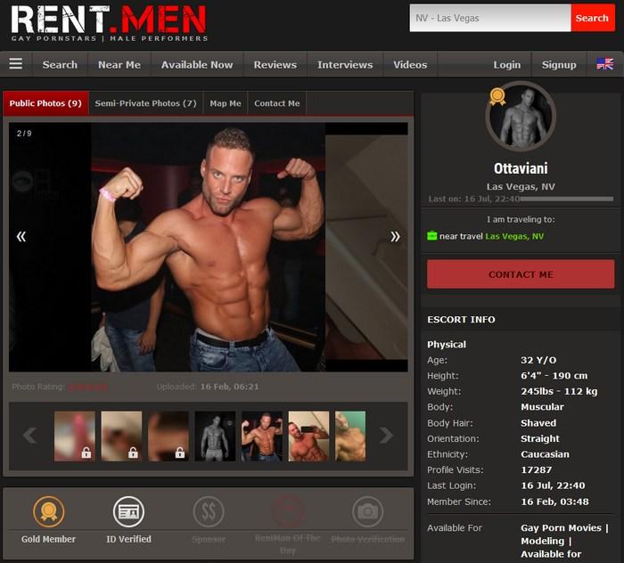 Ottaviani Rent Men Male Escort Sean Cody Jack Gay Porn Star Bodybuilder