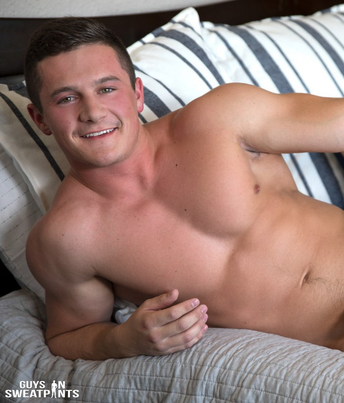 Shaun Gains Gay Porn Muscle Hunk Handsome Smile