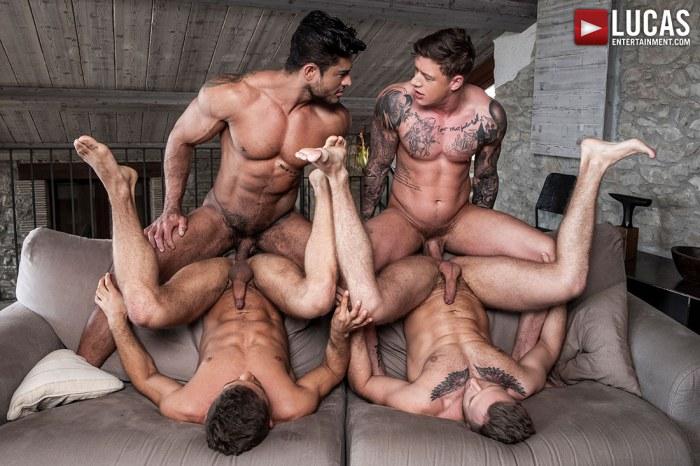Diego And Geordie Fuck-Machine Foursome