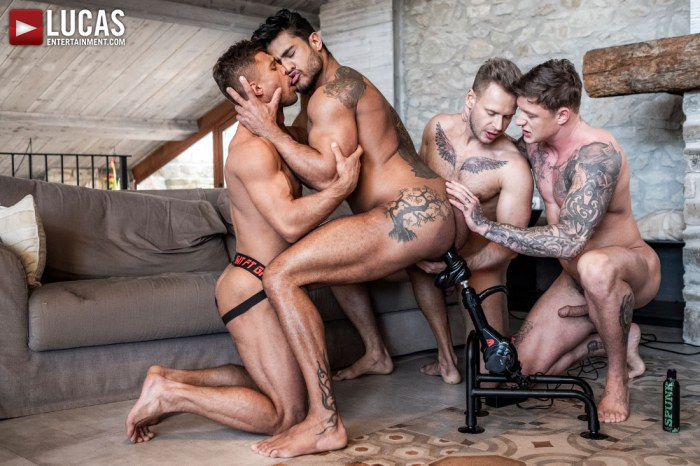 Diego And Geordie Fuck-Machine Foursome