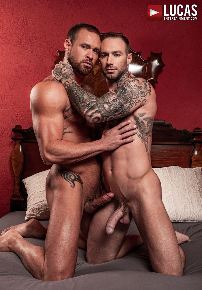 Dylan James Gay Porn Michael Roman Muscle Hunk Tattoo Big Dick
