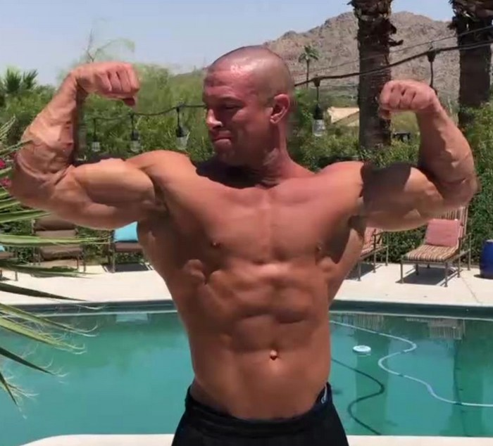 Sean Costin Bodybuilder Gay Porn Star Shirtless Muscle Flex