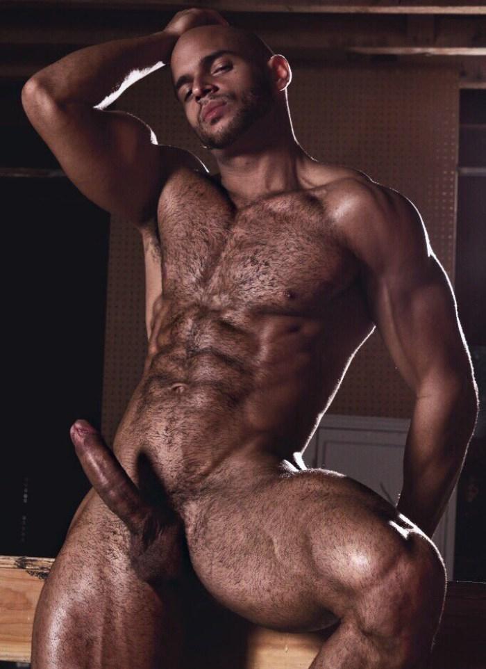 Sean Zevran Gay Porn Star Naked Big Dick Muscle Hunk Hairy