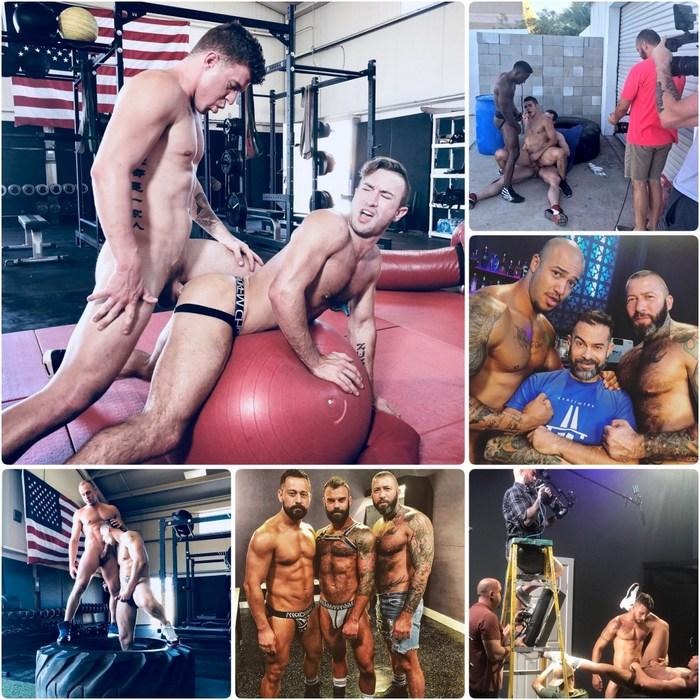 Gay Porn Behind The Scenes Grant Ryan JJ Knight Adam Gregory Cazden Hunter Alexander Kristov