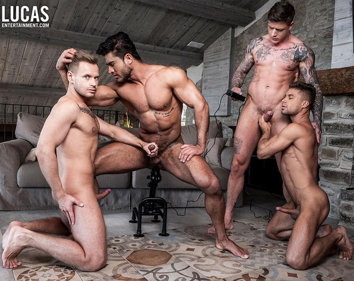 Gay Porn Diego Lauzen Geordie Jackson Klim Gromov Yuri Orlov Muscle Hunk Fuck Machine