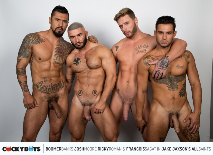 Gay Porn Francois Sagat Boomer Banks Josh Moore Ricky Roman All Saints4