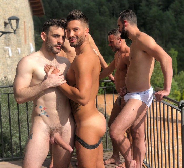 Gay Porn Stars Behind The Scenes Barcelona LucasEntertainment