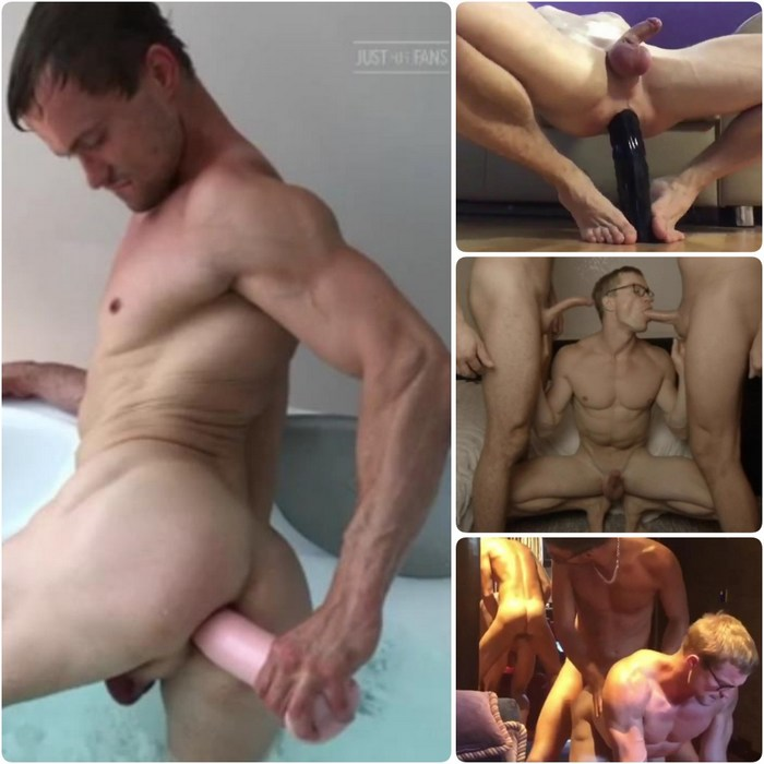 Henrik Sommer Gay Porn Muscle Hunk Power Bottom Big Dildo