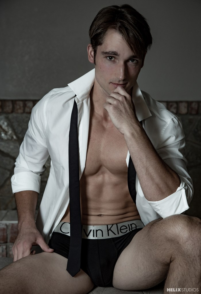 Luke Wilder Handsome Gay Porn Star Calvin Klein Underwear