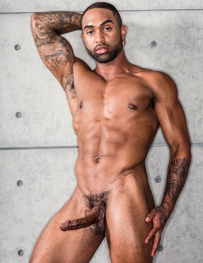 Remy Cruze Gay Porn Star Naked Black Male Model Muscle Hunk Big Cock
