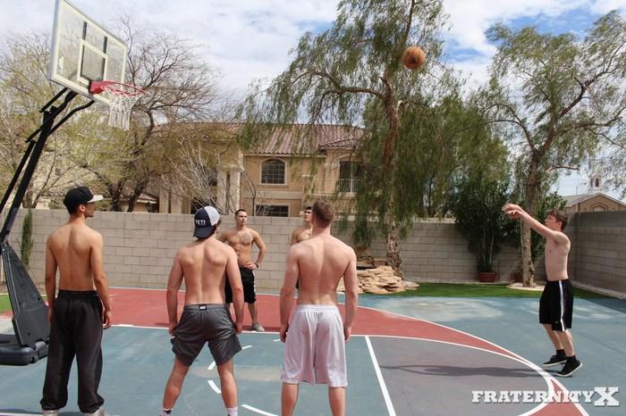 FraternityX Bareback Gang Bang Axel Kane Brandon Evans Caleb Anderson
