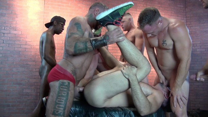 Gay Porn Brian Bonds Mason Lear Bareback Gang Bang Proposal