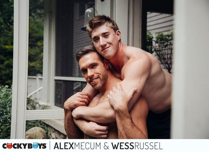Wess Russel Gay Porn Alex Mecum Muscle Hunk Bareback Sex CockyBoys