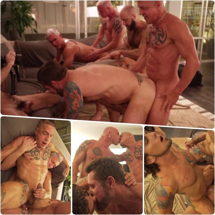 Gay Porn Bareback Orgy JustForFans Jack Mackenroth Ryan Carter Digger Teddy Bear Silver Steele Archer Croft