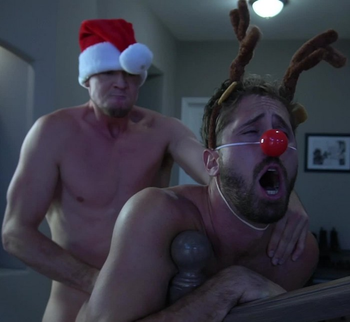 Gay Porn Christmas Special Man Up Pierce Paris Fucks Wesley Woods Rudolph Red-Nosed Reindeer