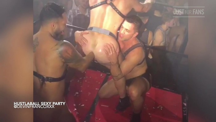 HustlaBall Sexy Party Gay Porn Devin Franco Viktor Rom Dominnic Pacifico