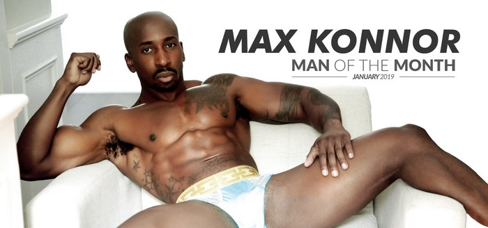 Max Konnor Gay Porn Star Big Black Cock Noir Male