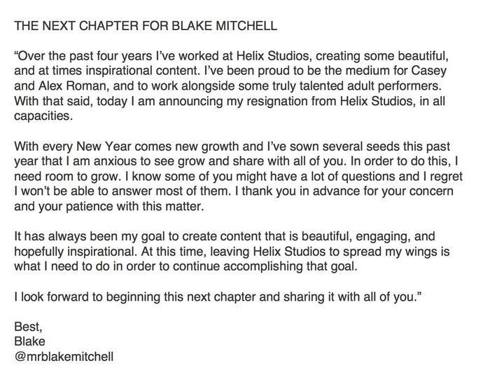 The Next Chapter For Blake Mitchell