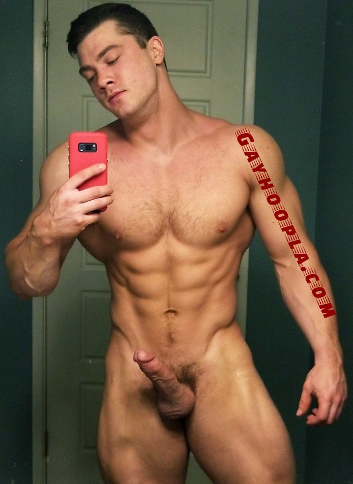 Collin Simpson Gay Porn Star Naked Muscle Hunk Big Dick Selfie GayHoopla