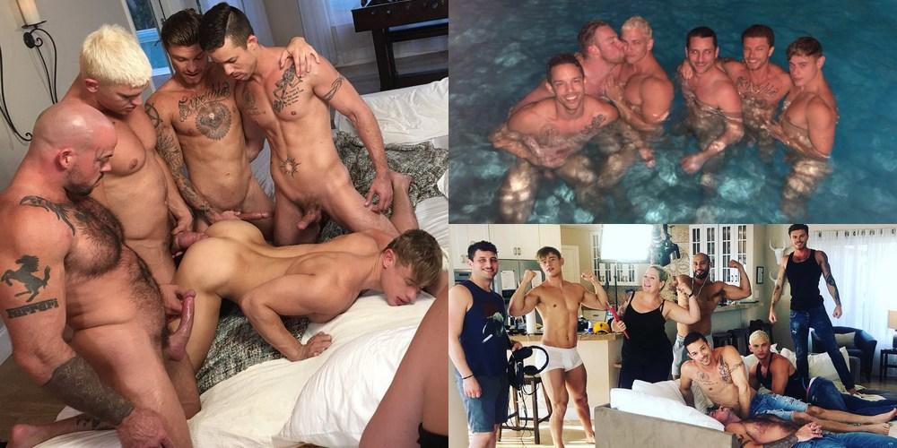 Behind the scenes gay porn pics