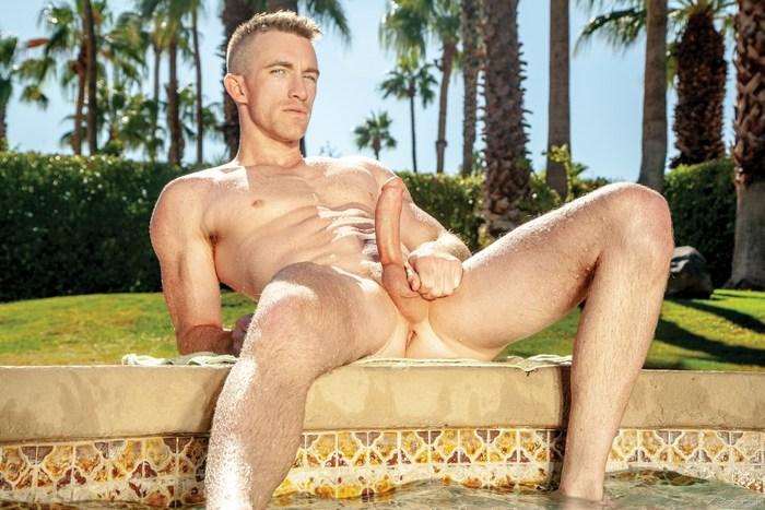 Nick Fitt Gay Porn Star Naked Big Dick FalconStudios Pool
